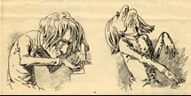Caricature de Liszt le virtuose