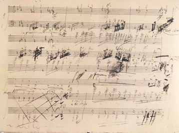 Manuscrit de Beethoven