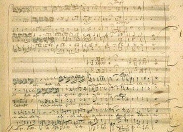Manuscrit de Mozart